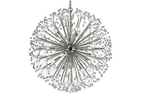 19-Light Chandelier, Polished Chrome