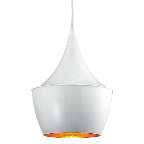 1-Light Pendant, Gloss White