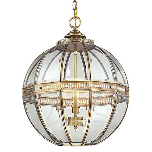 Thea 3-Light Globe Pendant, Brass