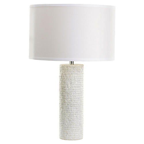 Marble Table Lamp, White