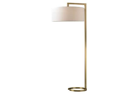 Ring Floor Lamp, Antiqued Brass