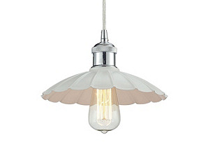 Corrine 1-Light Pendant, Polished Chrome