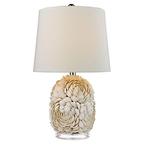 Shell Table Lamp, Natural