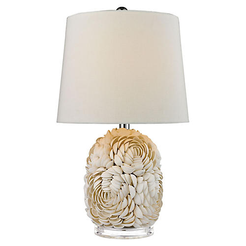 Shell Table Lamp, Natural