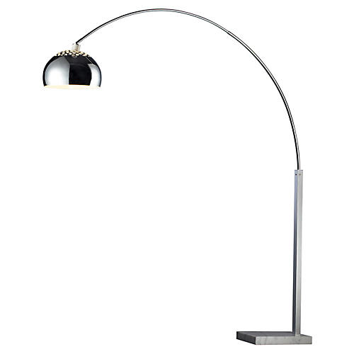 Penbrook Arc Floor Lamp, Chrome
