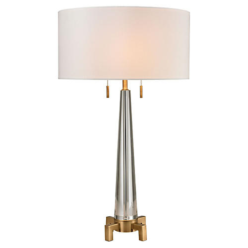 Bedford Table Lamp, Antiqued Brass