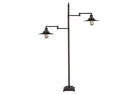 New Holland Floor Lamp, Bronze