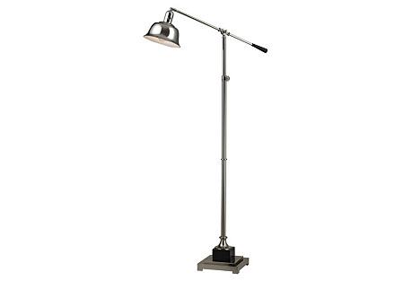 Freemanburg Floor Lamp, Polished Nickel