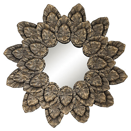 Petal Wall Mirror,Gold