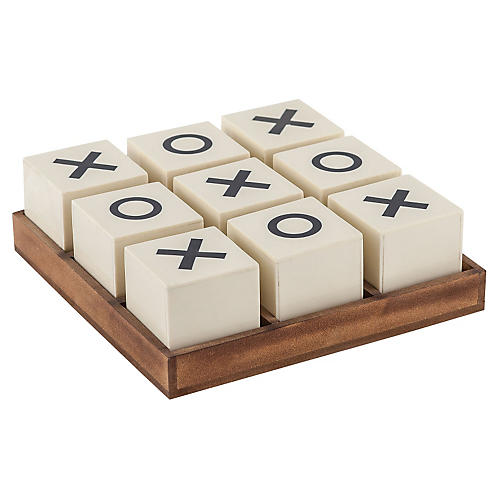 Crossnought Tic-Tac-Toe Game, Cream