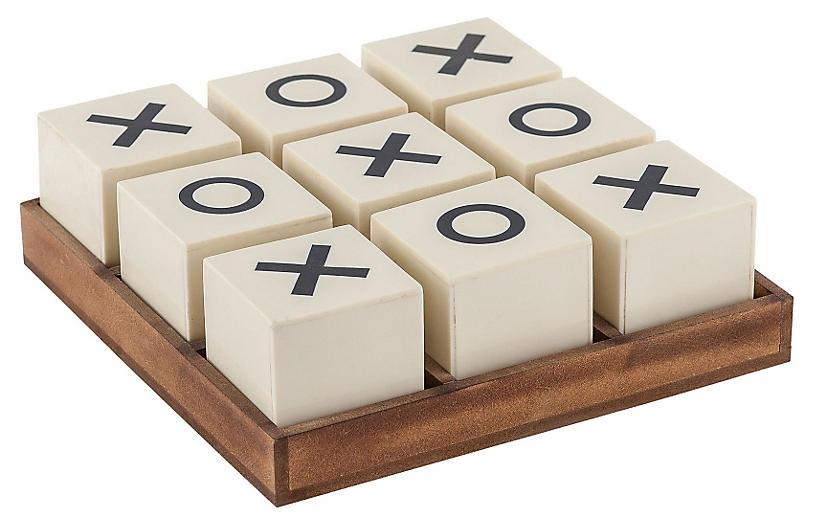 Crossnought Tic-Tac-Toe Game, Cream