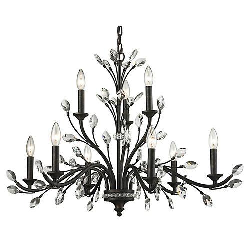 Branches 9-Light Chandelier, Bronze