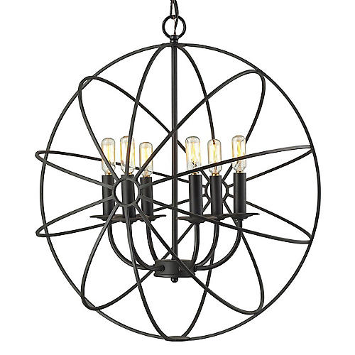 Yardley 6-Light Pendant, Bronze