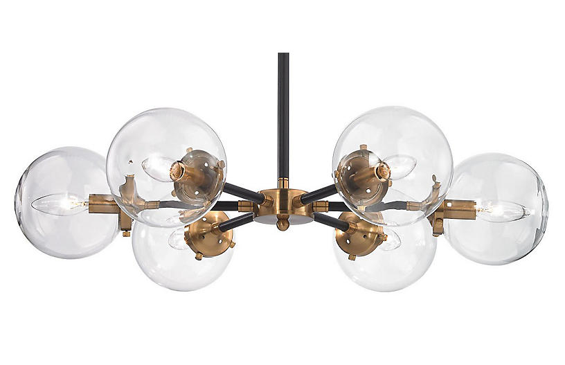 Boudreaux 6-Light Chandelier, Black
