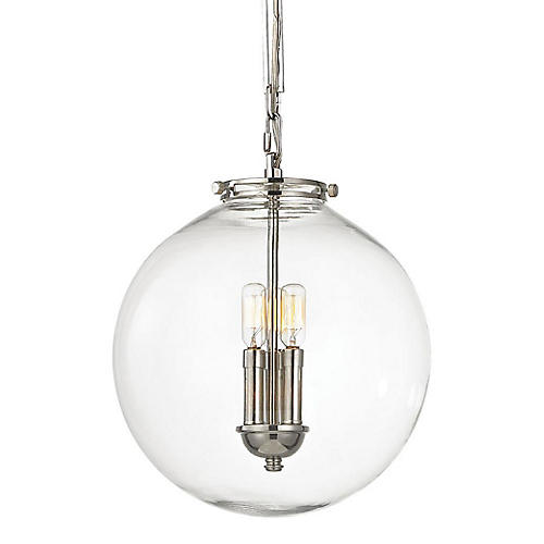 Gramercy 1-Light Pendant, Nickel