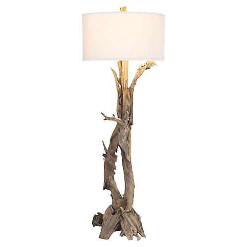 Teak Root Floor Lamp, Natural