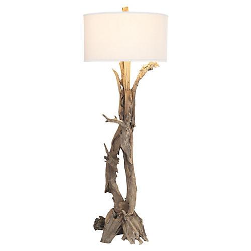 Teak Root Floor Lamp, Natural