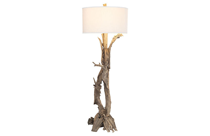 sports shoes ff259 f9a94 Teak Root Floor Lamp, Natural