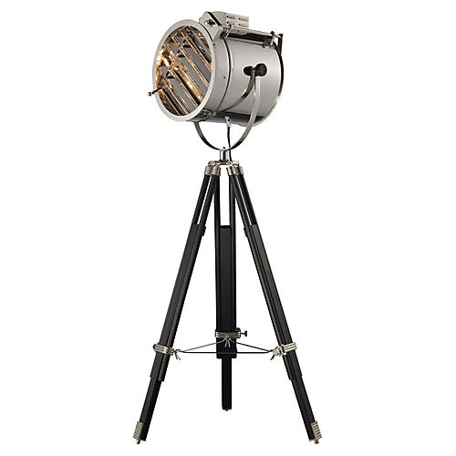 Curzon Adjustable Floor Lamp, Chrome