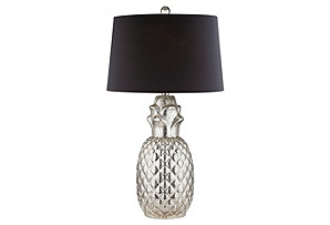 Pineapple Table Lamp, Silver*