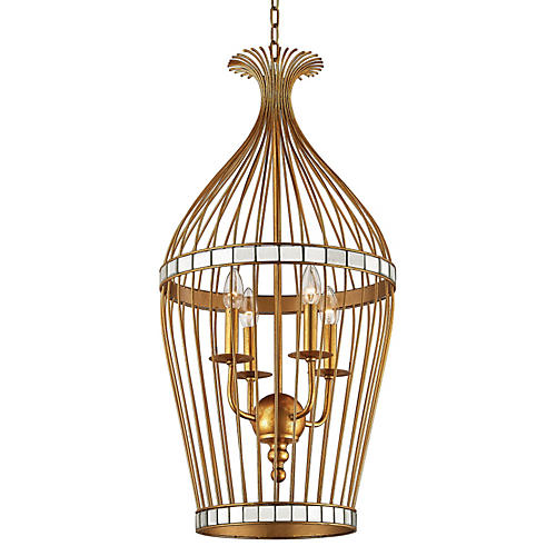 Cays 5-Light Pendant, Gold Leaf
