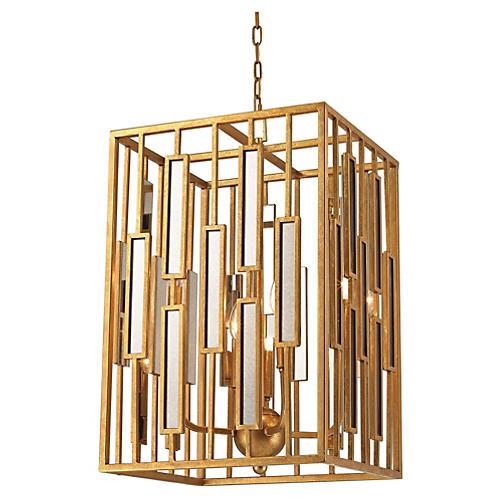Golden Gate Pendant, Gold Leaf