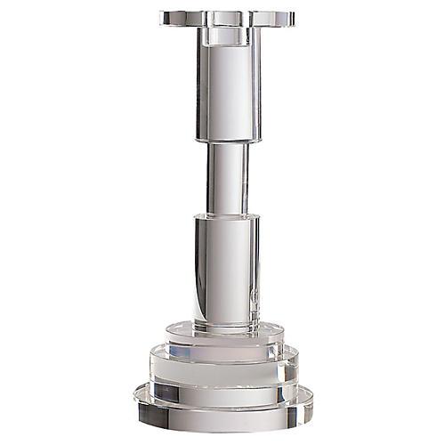"11"" Friel Crystal Candleholder, Clear"