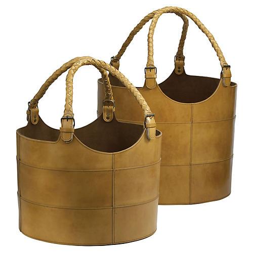 Asst. of 2 Nested Baskets, Caramel