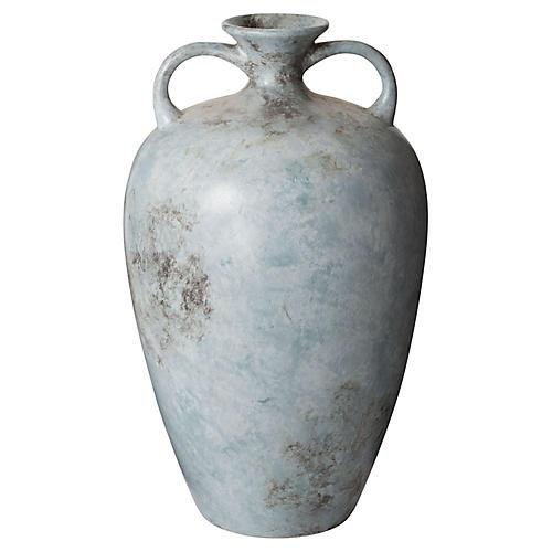 "20"" Starling Vase, Mottled Blue"