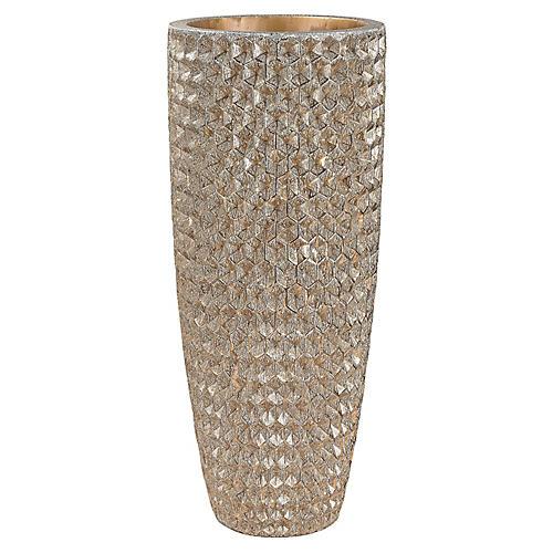 "41"" Phalanx Vase, Distressed Gold"