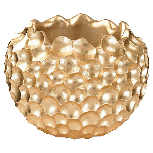 "16"" Vivo Bowl, Gold"