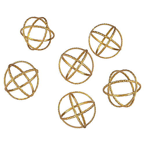 S/6 Kule Orb Accents, Gold