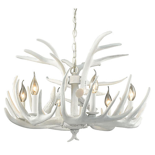 Big Sky 6-Light Chandelier, White