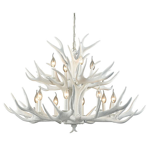 Big Sky 12-Light Chandelier, White