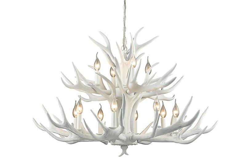 Big Sky 12-Light Chandelier, White