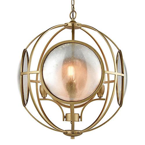 Le Style Metro Chandelier, Gold/Mercury
