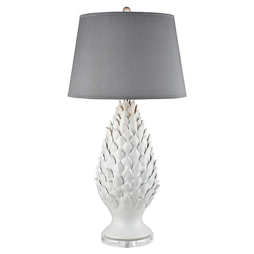 Schultz Table Lamp, Matte White