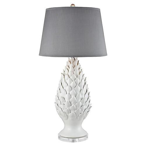 Schultz Table Lamp, Matte White