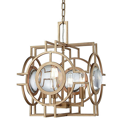 McKenzie 4-Light Pendant, Matte Gold