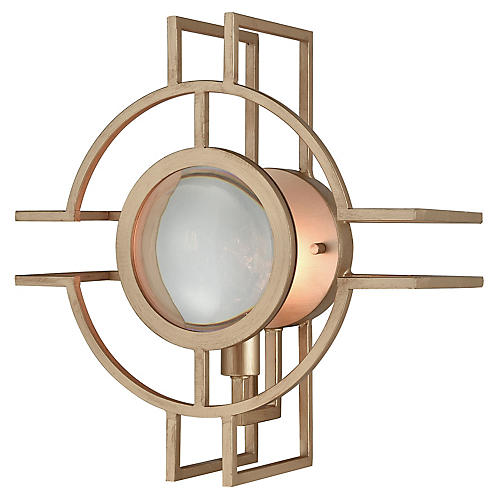 McKenzie Outdoor Sconce, Matte Gold