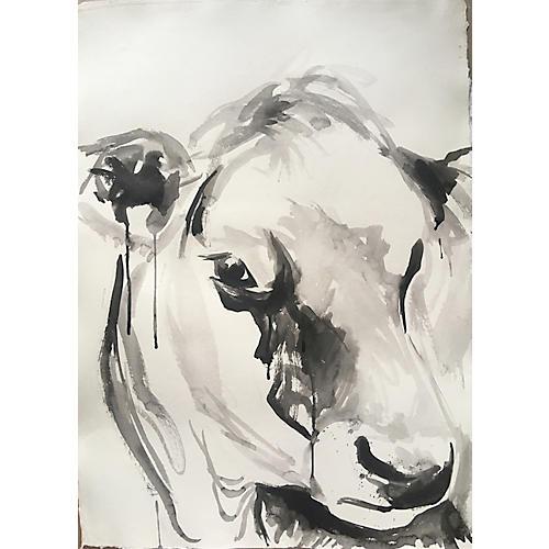 Cow Portrait in Ink II, Christen Yates