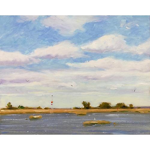Channel Marker & Marsh, Lisa Gleim