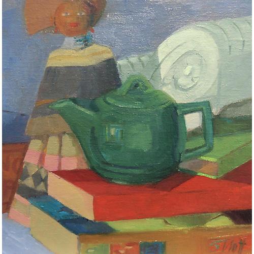 Teapot, Doll, and Books, Susan Trott