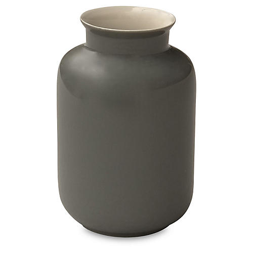 "4"" Porcelain Milk Jar, Steel Gray"