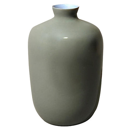 "8"" Plum Vase, Steel Gray"