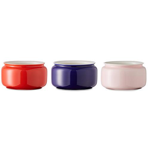 Asst. of 3 Kyra Mini Vases, Red/Multi