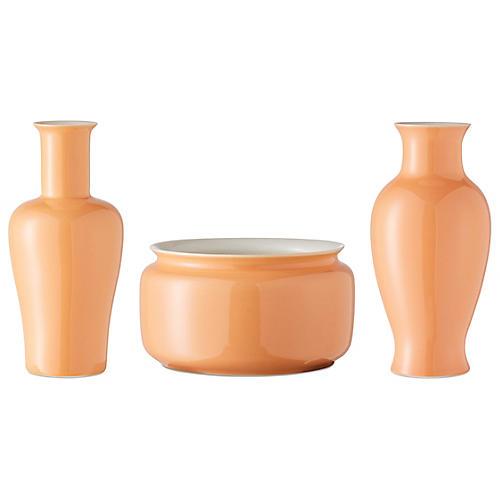 Asst. of 3 Kyra Mini Vases, Orange