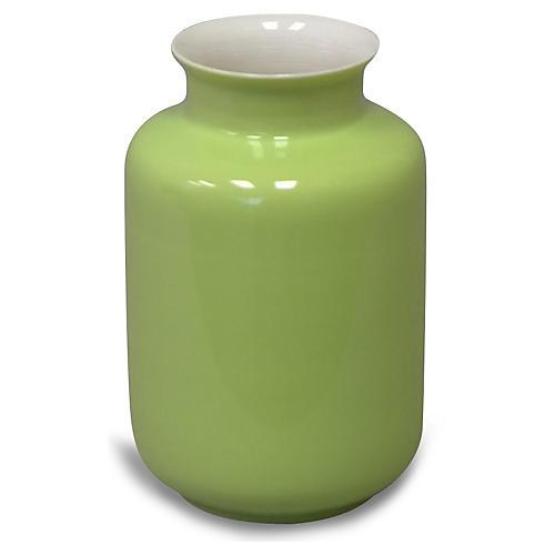 """5"""" Kyra Porcelain Vase, Apple Green"""