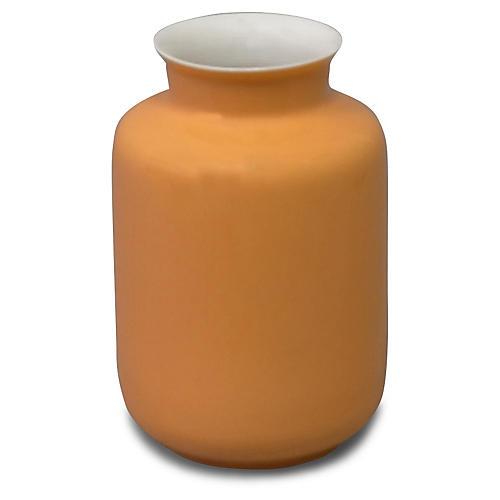 "5"" Kyra Porcelain Vase, Orange"