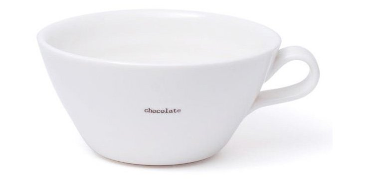 "S/2 Breakfast Cups, ""Chocolate"""